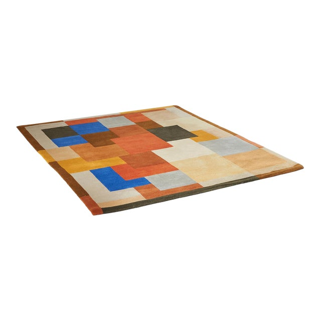 """""""Labrinthe"""" Wool Rug by Sonia Delaunay For Sale"""