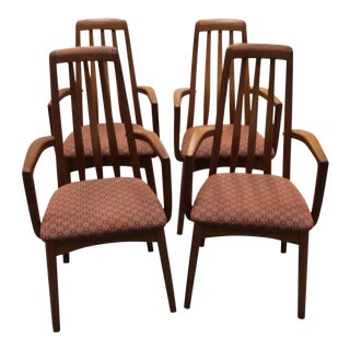 1960's Mid-Century Modern Benny Linden Teak Dining Chairs - Set of 4 For Sale