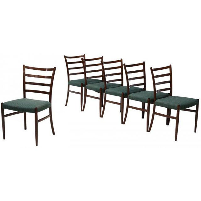 Danish Mid-Century Modern Rosewood Dining Chairs - Set of 6 - Image 3 of 3