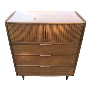 Mid Century Kent Coffey Highboy Tall Dresser For Sale