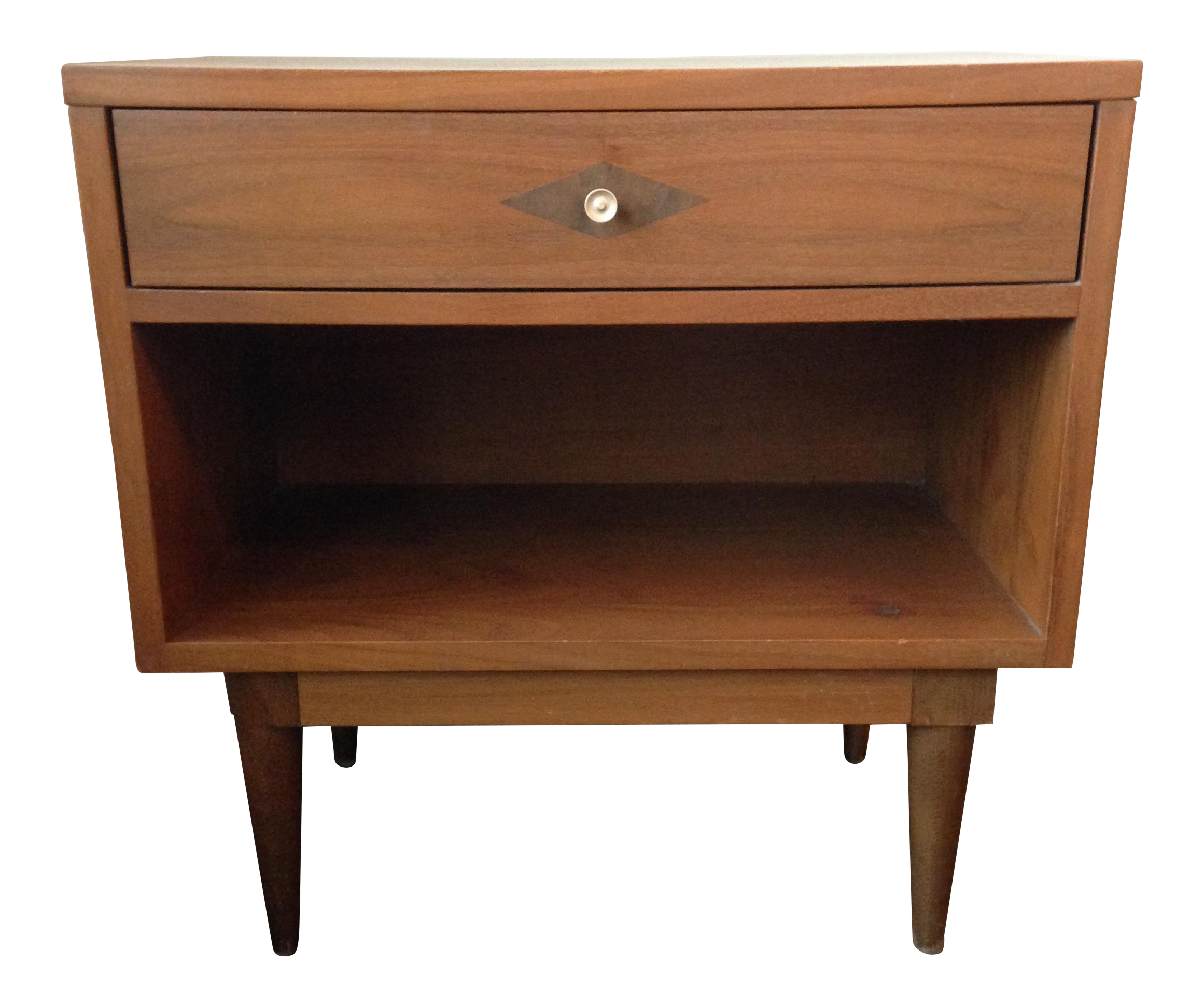 Basic Witz Mid Century Modern Night Stand Side Table