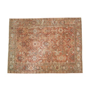 Vintage Distressed Heriz Carpet - 6' X 8'2""