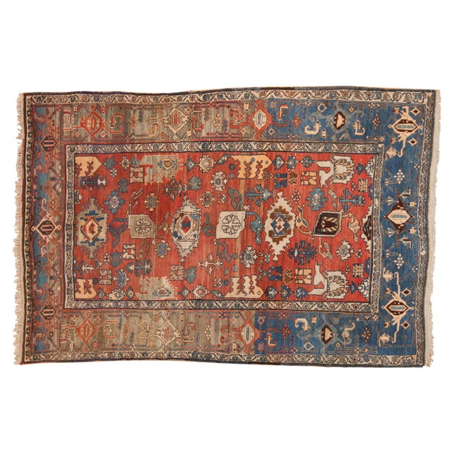 "Vintage Bijar Rug - 4'10"" X 7' For Sale - Image 13 of 13"