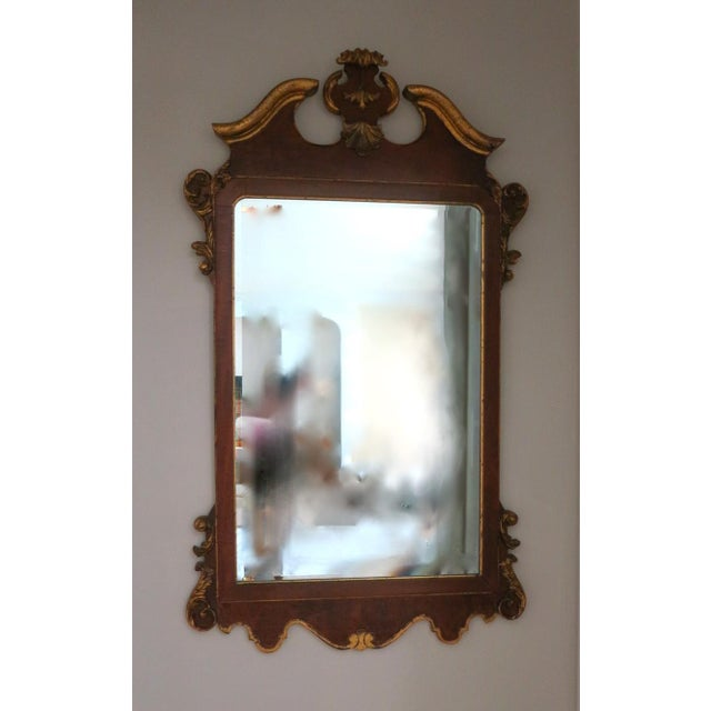 Vintage Italian Gold Mirror by La Barge Burl Wood and Gold Gilt For Sale - Image 9 of 9