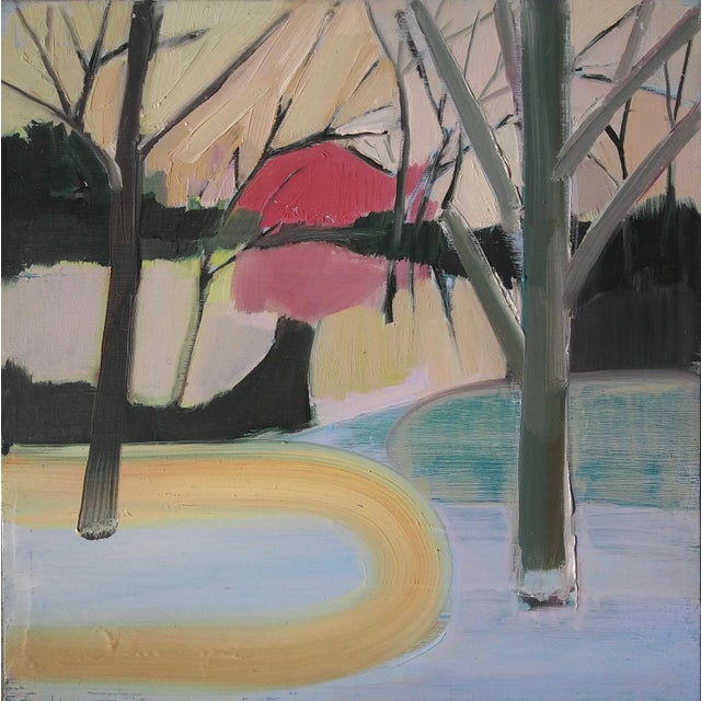"2000 - 2009 ""Spring Barn"" Oil Painting For Sale - Image 5 of 5"