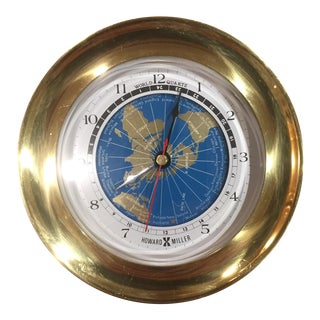 Howard Miller Brass World Ship Clock