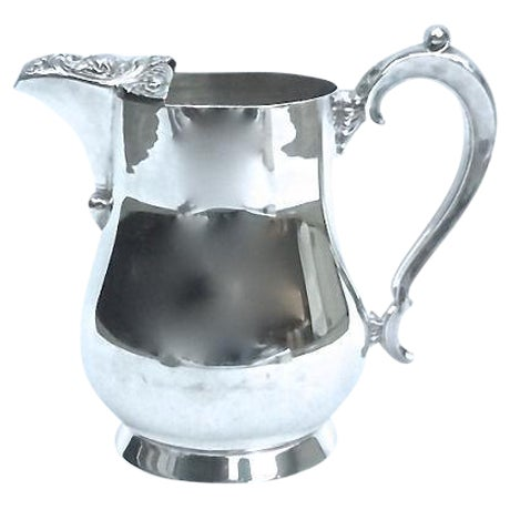 Vintage Silver-Plate Acanthus Leaf Pitcher - Image 1 of 6
