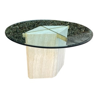 Postmodern Marble & Glass Artedi Dining Table For Sale