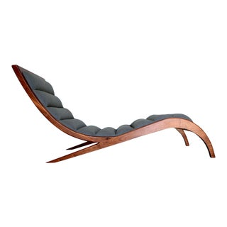 Winston Walnut Chaise Lounge For Sale