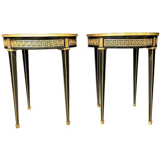 Jansen Style Bouliotte / End Tables Bronze Mounted - a Pair For Sale - Image 13 of 13