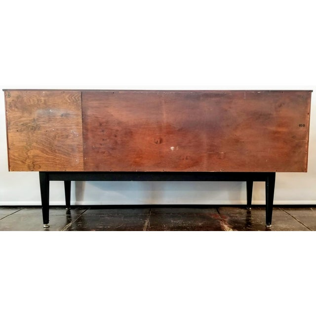 Jentique 1960s Danish Modern Jentique Furniture Tola and Rosewood Credenza For Sale - Image 4 of 12