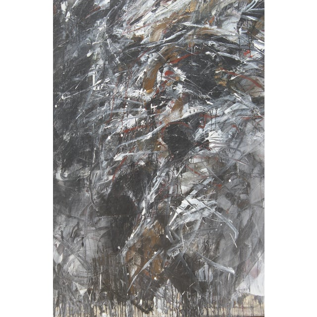 Black Contemporary Abstract Painting by Dehais For Sale - Image 8 of 8