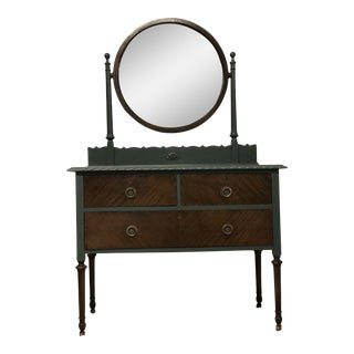 Antique Vanity With Removable Mirror For Sale