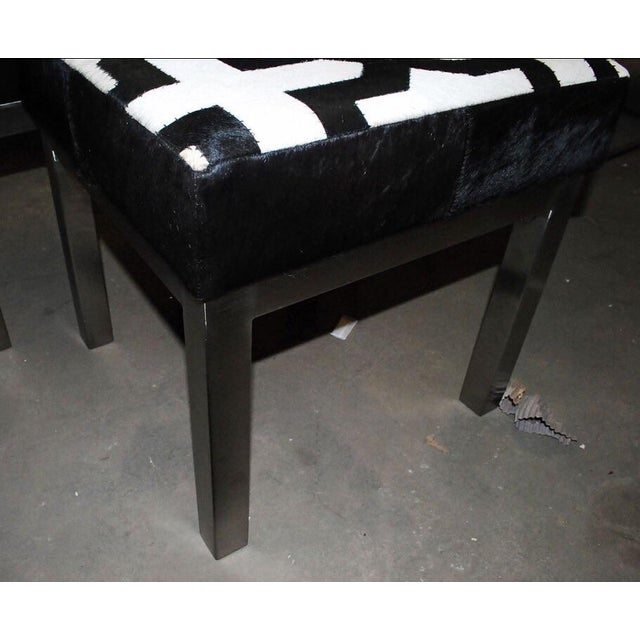 Islamic Moroccan Style Cowhide Ottomans -A Pair For Sale - Image 3 of 7