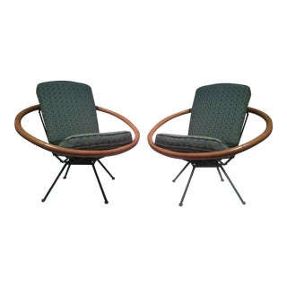 Vintage Ritts Tropitan Swivel Lounge Chairs - Pair