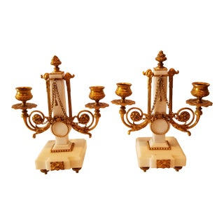 Pair of French Candle Holders For Sale