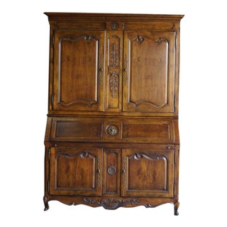 French Provincial Henredon Villandry Secretary Desk Cabinet For Sale