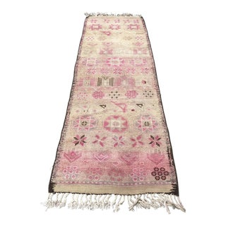 Turkish Antique Handwoven Hallway Runner - 2′9″ × 9′ For Sale