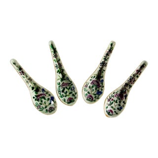 Chinese Porcelain Spoons - Set of 4 For Sale
