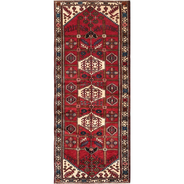 """Pasargad Vintage Balouch Area Rug- 3'11"""" X 5' 4"""" - Image 1 of 4"""