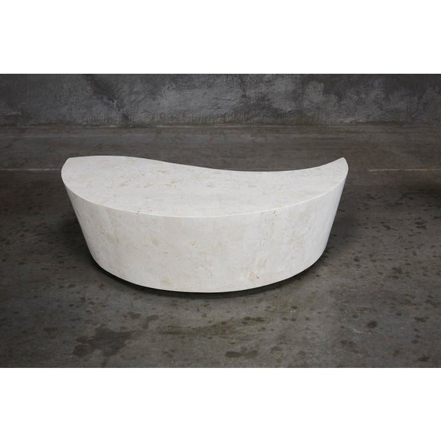 "White 1990s Contemporary White Freeform Tessellated Stone ""Hampton"" Coffee Table For Sale - Image 8 of 13"