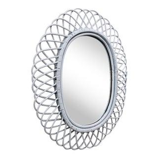 Vintage Bent Rattan Mirror
