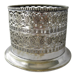 1920s Vintage Scottish Silverplate Champagne Bottle Holder