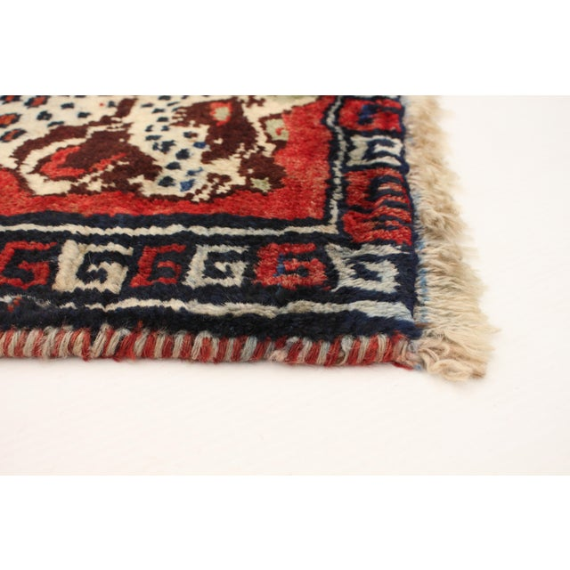1970s 1970s Tiger Motif Handmade Wool Rug-3′8″ × 4′ For Sale - Image 5 of 9