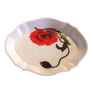 Wedgwood Corn Poppy Porcelain Tray by Susie Cooper Design