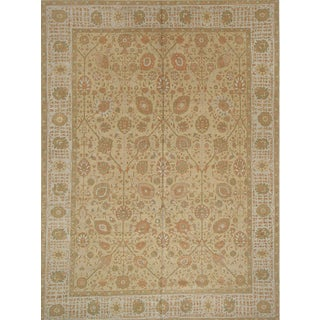 Room Size Modern Turkish Persian Tabriz DesignR ug - 9′11″ × 13′3″ For Sale