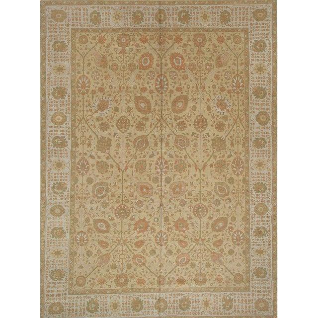 Room Size Modern Turkish Persian Tabriz DesignR ug - 9′11″ × 13′3″ For Sale