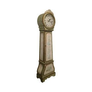 Howard Miller Paint Decorated Camille Round Face Grandfather Clock For Sale