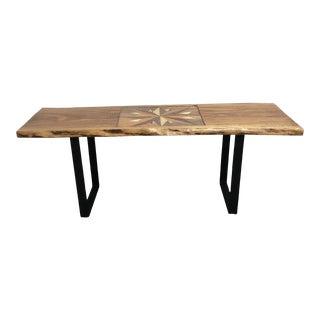 Bob Baker Eucalyptus + Veneer Designed Coffee Table/ Bench For Sale