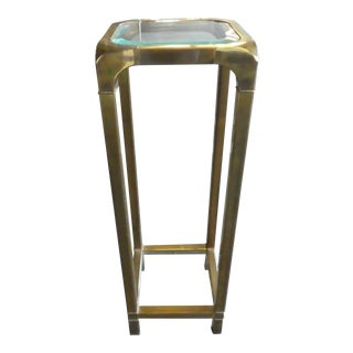 1970's Mastercraft Brass Pedestal For Sale
