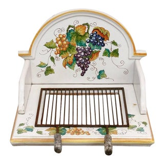 Italian Pottery Ceramic Hibachi or Garden Sink Surround For Sale