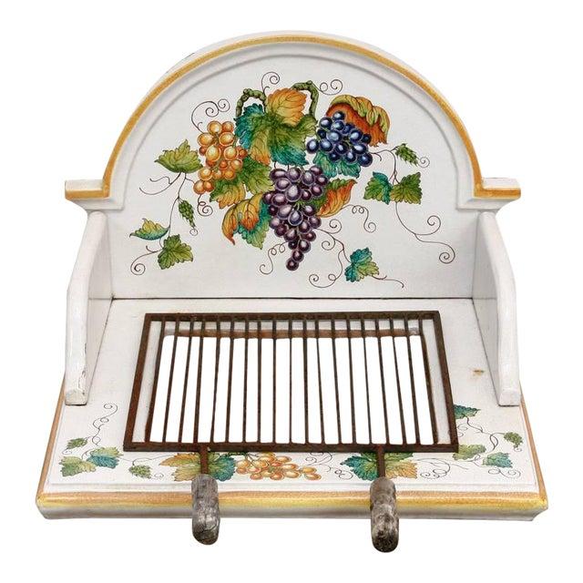 Italian Pottery Ceramic Hibachi or Garden Sink Surround For Sale