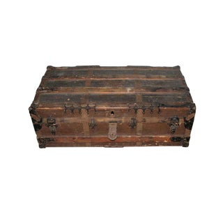 Antique Brown Storage Trunk For Sale