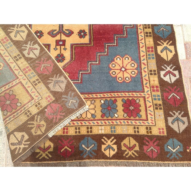 Vintage Anatolian Area Rug - 4′ × 7′7″ For Sale In Raleigh - Image 6 of 7
