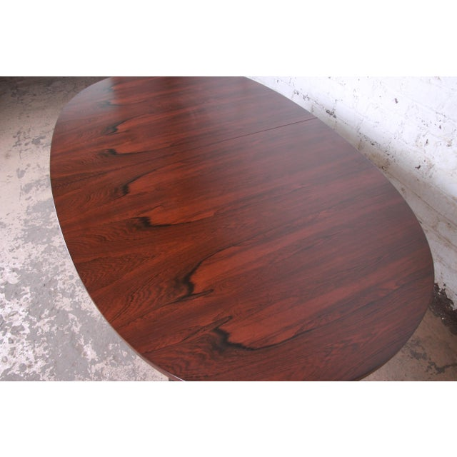 Harvey Probber Mid-Century Modern Saber Leg Rosewood Extension Dining Table, Newly Refinished For Sale - Image 11 of 13