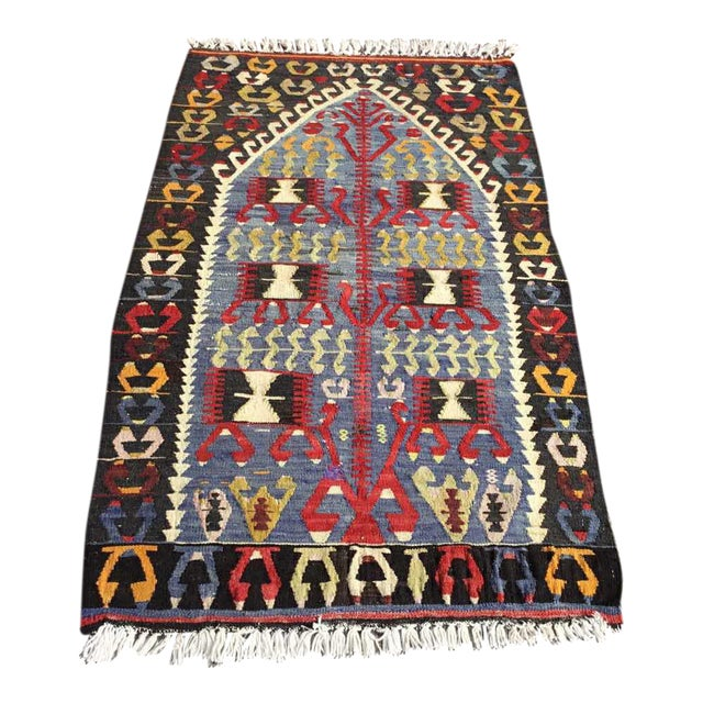 Vintage Turkish Kilim Rug For Sale
