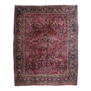 Antique Persian Mohajeran Sarouk Rug - 09'03 X 11'05 For Sale