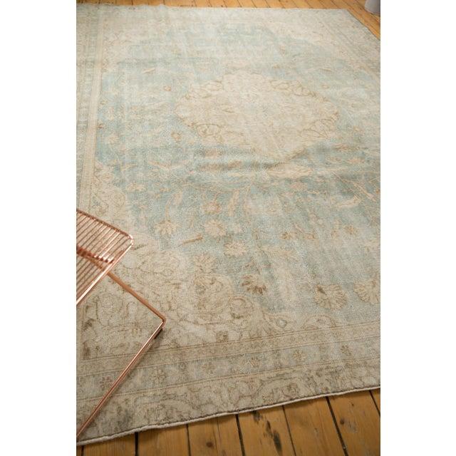 "Vintage Distressed Sivas Carpet - 8'7"" X 11'1"" For Sale - Image 9 of 12"
