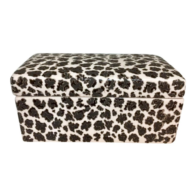 Animal Print Porcelain Black & White Box - Image 1 of 5