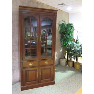 1970s Traditional Pennsylvania House Cherry Two Door Lighted Curio/Cabinet/Bookcase Preview