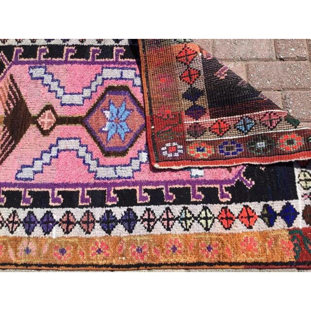 Textile Vintage Turkish Runner Rug - 3′2″ × 11′6″ For Sale - Image 7 of 7