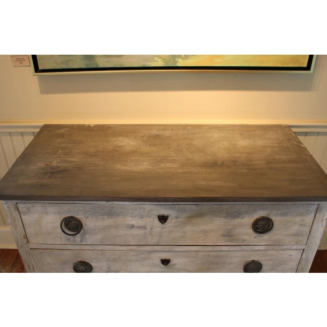 French Provincial Swedish Style Painted Pine Chest of Drawers For Sale - Image 3 of 7