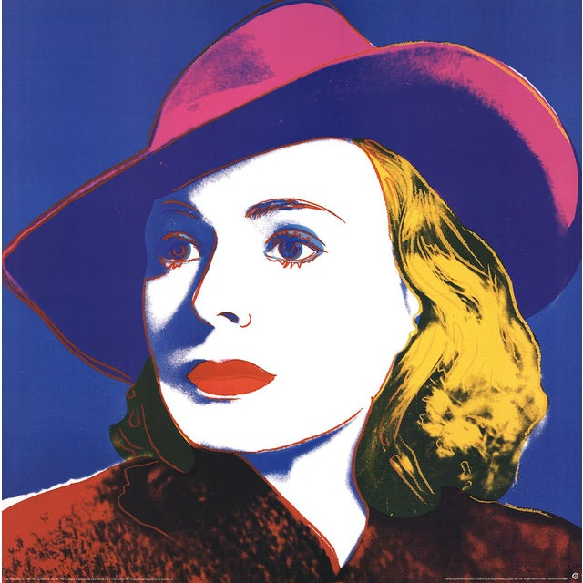 Pop Art Andy Warhol, Ingrid With Hat (Lg), Offset Lithograph, 1990 For Sale - Image 3 of 3
