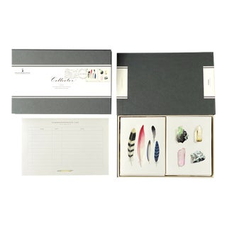 """""""Collector"""" - Couplet Boxed Stationery - Folded Card Pair - Set of 10 For Sale"""