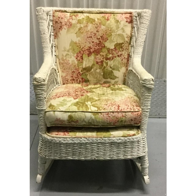 Vintage Wicker Rocking Chair - Image 2 of 10