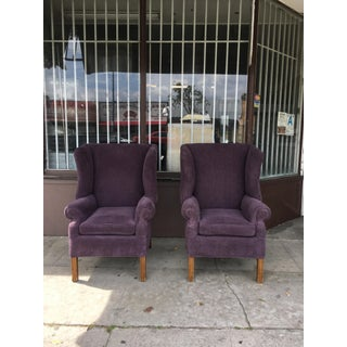 1970s Vintage Wingback Chairs- A Pair Preview
